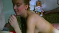 Lovely young blonde with perky boobs gets pounded by a horny old man