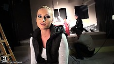 Kathia Nobili gets interviewed and exposed in one of her best hardcore shoots