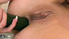 With a cucumber, they drill each other's holes and find the pleasure they seek