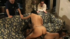 Kinky hubby watches as his wife gets an orgasm on a big black dick