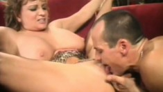 Nasty mature woman gets her pussy eaten out and fucked by a young stud