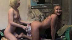 Blonde cuties Willa and Mia enjoy the intense pleasures of lesbian sex