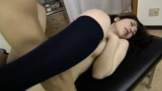 She follows doctor's orders and gets naked to let him fuck her
