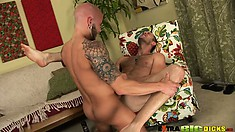 Banging that ass in various positions, he provides pleasure to them both