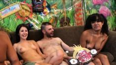 Annie Cruz and Missi Daniels enjoying wild sex with interracial studs