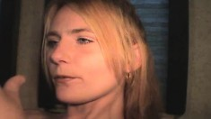 Nasty Blonde Hooker Alexis Peels Off Her Clothes And Gives A Blowjob