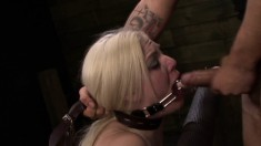 Jenna Ivory deepthroats a big pole and gets drilled rough from behind