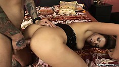 Nothing makes her moan louder than a deep and hard anal gaping