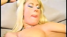 Cool big-breasted sluts finger the fuck out of their own trimmed pussies