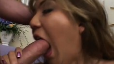 Naughty Asian tramp wants her pussy stretched apart by two big dicks
