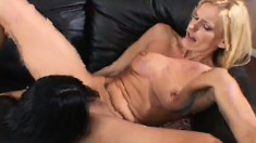 Two lustful milfs provide to each other the intense pleasure they seek