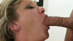 Fair-faced milf is fucked by two incredibly hard beaver-cleavers