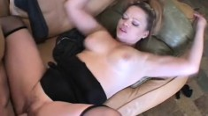 Golden Jade is a horny blonde mom yearning for a young stud's big cock