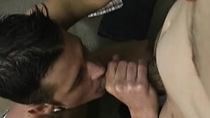 The delivery boy gets more than a tip, he gets man ass to fuck