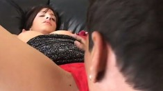 Skinny Arianna Gold touches herself, blows a dick and gets nailed hard