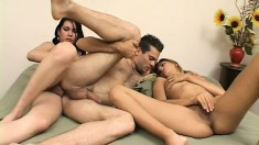 Shemale joins a couple in a threesome and takes them to new heights