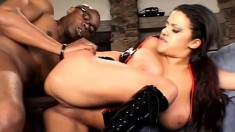 Busty Alexis Silver is in desperate need of a huge throbbing dick