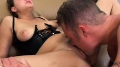 Big breasted slut Nikki Nievez gets her ass banged rough and creampied