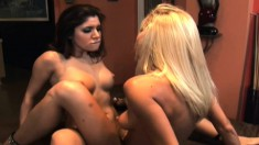Two striking lesbians fuck each other in every hole and find pleasure