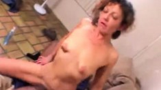 Old bitch with weird titties still loves to get hammered by a black dick