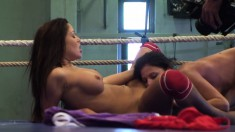 Lusty Angelica Heart and Denisa Doll get carnal while fighting