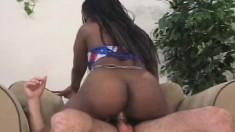 Buxom black hottie Lola Lane rides Gary Boon's hard shaft with fervor