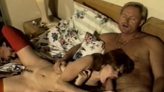 Sidney begs to get into a threesome and get her holes stuffed
