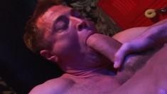 Lustful gay stud Ben Campezi enjoys wild anal sex in the locker room