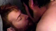 Gay bears Neat Pete and Bill Johnson in a wild ass banging threesome