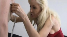 Hot blondes Margo and Kaylee worship a big pole and share its juices