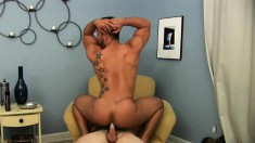 Two attractive and lustful boys hook up for an intense gay experience