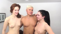 Wild chicks Ariadna Moon and Kittina Ivory get fucked by two hung guys