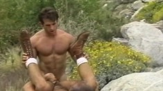 Hunky gay studs Cole, Luke and Steve enjoy their time in the outdoors