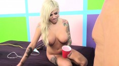 Vyxen and Maggie indulge in hot lesbian action and fuck a hard prick
