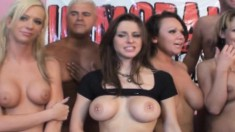 Big Breasted Hottie Rachel Roxxx And Friends Feed Their Lust For Cock