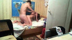 Russian Amateur couple doggystyle