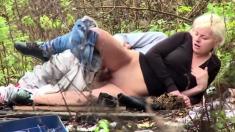 European football crazy teen couple outdoor sex