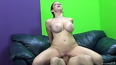 Sara Jay is a cock loving dirty MILF with big sensitive tits