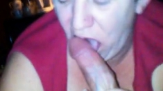 blow job and cum shot