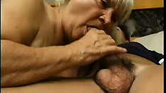 Chubby, Hairy Granny Gives This Young Stud A Lesson In Old Style Sex