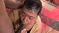 She May Be Old But She Still Remembers How To Handle A Black Dick