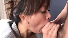 Sultry Asian Cougar With Big Round Boobs Loves To Suck Cock And To Get Fucked Hard