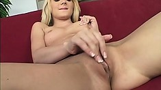 Slender blonde bends over and takes a jackhammer in her tail end