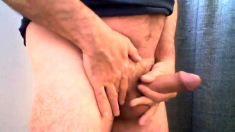 Str8 daddy playing with his cock ll