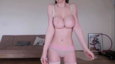 Perfect Teen Big Tits Bored in The House