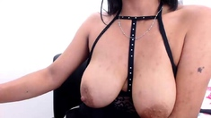 Busty attractive milf panty play and striptease