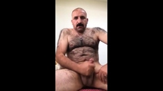 Str8 mustache married daddy play on bed