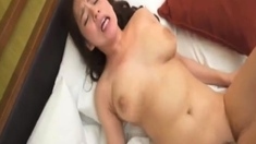 Japanese gal pussy in panties toyed