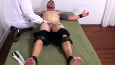 Gay Hunk Hand Job Cums Clint Gets Naked Tickle Treatment