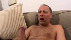 Daddy Jerking His 11 Inch Dick